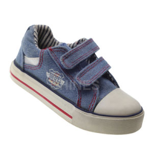 Girls Canvas Vulcanized Shoes with Toe Cap and Magic Tape Band pictures & photos