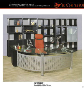 Modern Glass Executive Desk