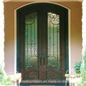 Decorative Eyebrow Arched Top Iron Entry Door (UID-D030) pictures & photos