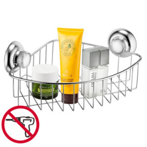 Suction Stainless Steel Bathroom Corner Rack
