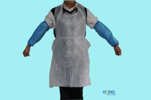 Plastic Chef Apron/PE Kitchen Disposable Poly Apron for Cooking Use