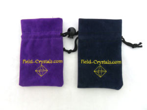 Custom Suede Printed Draw String Jewellry Pouches pictures & photos