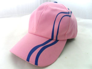 Fashion Pink 6 Panel Printing Fitted Hats pictures & photos