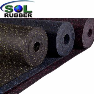 Fire Resistance Rubber Gym Flooring Mat in Roll pictures & photos