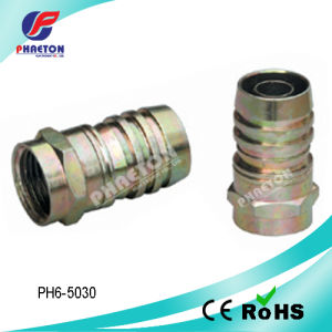 Rg59 RG6 Crimp RF Connector for Coaxial Cable (pH6-5030) pictures & photos