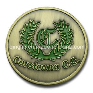 Zinc Alloy Soft Enamel Antique Souvenir Coins with Logo pictures & photos