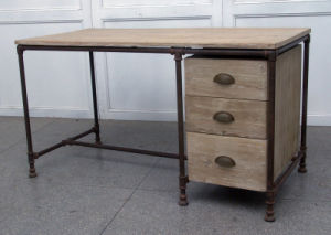 Functional Desk Antique Furniture with Drawers pictures & photos