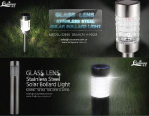 Class Lens Stainless Steel Solar Bollard Light pictures & photos