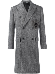Double Breasted Business Suit Wool Tweed Coat pictures & photos