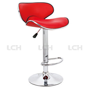 PU Leather Chrome Metal Adjustable Counter Stool Bar Stool