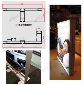 Luxury Outdoor Polyester Fabric Advertising Banner LED Lightbox Display Stand