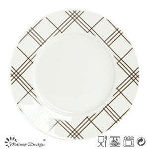 16PCS White Porcelain with Strip Decal Printing Dinner Set pictures & photos