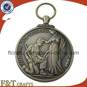 Custom Made Round Arched Antique Engraved Metal Award Medal pictures & photos