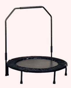 Outdoor Mini Foldable Trampoline with Handrail Bar pictures & photos