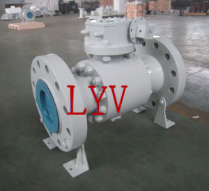 Stainless Steel Flanged 3 Way T Port Ball Valve pictures & photos