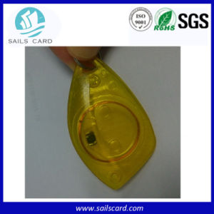 Transparent Plastic RFID Key Tag pictures & photos