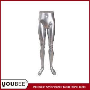 Shinny Silver Female Leg Fiberglass Torso for Clothes Store Display pictures & photos