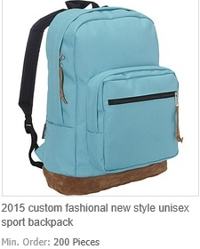 Custom Fashional New Style Unisex Sport Backpack