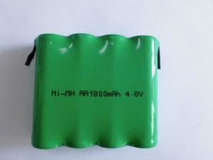 4.8V 1800mAh AA NiMH Rechargeable Battery Pack pictures & photos