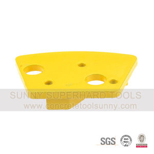 Fan Shape Diamond Grind Pad with Two Arrow Segments for Concrete and Cement pictures & photos