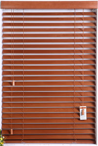 High Profile Metal Head Rail Custome Made Wood Blinds pictures & photos