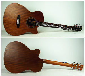 Aiersi Cheap Price Om Style Plywood Acoustic Guitar pictures & photos