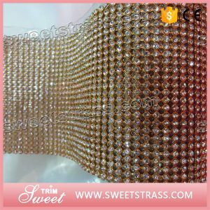 Gold Cup Decorative Strass Mesh for Sale pictures & photos