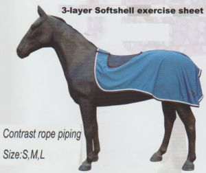 Horse Gear 3--Layer Softshell Work Rug & 3-Layer Softshell Exercise Sheet pictures & photos