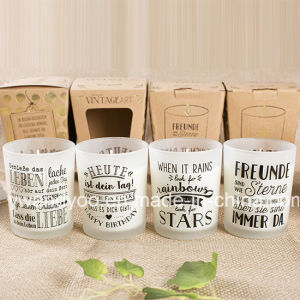 Wholesale Scented Soy Frosted Glass Candle for Decoration pictures & photos