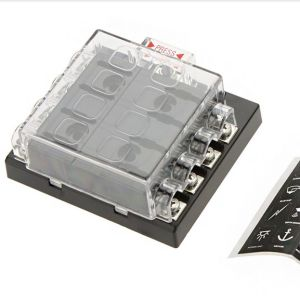 8 Way Circuit Car Fuse Box 32V DC Blade Fuse Holder Box Block Auto Car Boat Unviersal High Quality Waterproof Dustproof pictures & photos