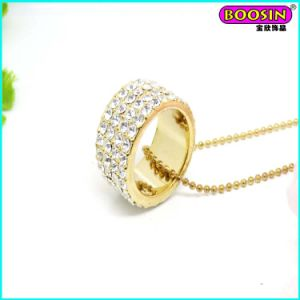Custom Fashion 18k Gold Rhinestones Ring Pendant Necklace Jewelry pictures & photos
