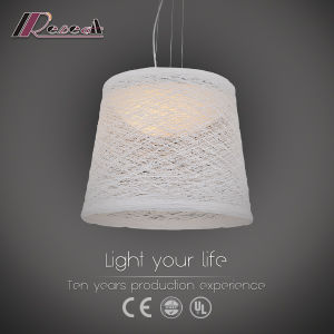 Metal Rattan Pendant Lamp with White Shade pictures & photos
