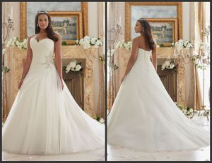 Sweetheart Bridal Gowns Custom Made Plus Size Wedding Dress Mrl3203 pictures & photos