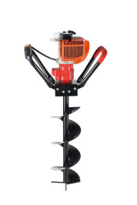 High Quality Strong Power Portable Pertol Engine Hand Displacement Earth Drill