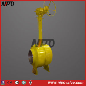 Fully Welded Bw End Underground Ball Valve pictures & photos