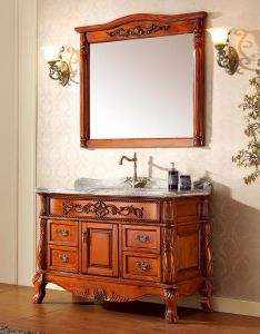 Ancient Style Solid Wood Bathroom Vanity pictures & photos