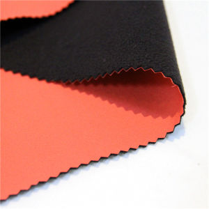 100 Polyester Soft Shell 3 Layer Laminated for Jacket Fabric pictures & photos