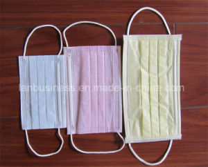 Disposable 3 Ply Non-Woven Medical Face Mask pictures & photos