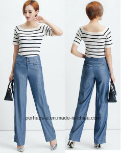 Attractive Ladies Palozzo Pants with Tencel Denim pictures & photos