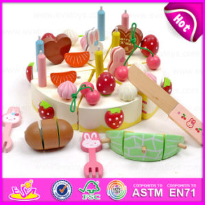2015 DIY Wooden Cutting Birthday Cake Toy, Novelty Children Wooden Cutting Cake Toy, Cutting Food Toy for Kid Pretend Play (W10B103) pictures & photos