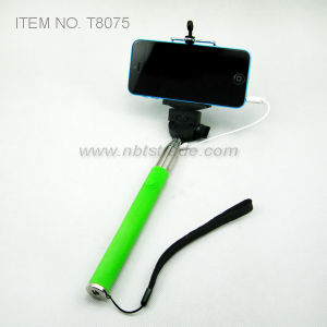 Handheld Selfie Stick Extendable Cable Take Pole Monopad (T8075) pictures & photos