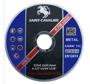 "Abrasives Cutting Disc 4.5""X3/64""X7/8"" pictures & photos"