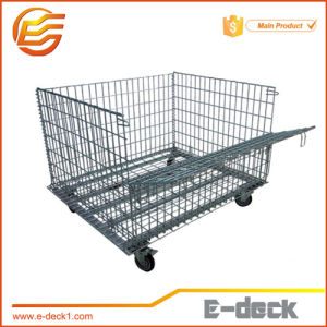 Stackable Foldable Wire Mesh Container for Shoping Mall