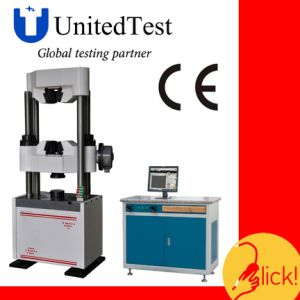WEW-D Series PC Screen Display Manual Hydraulic Universal Testing Machine pictures & photos