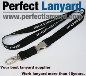 Jacquard Logo Lanyard with Metal Buckle pictures & photos