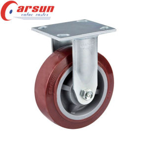 6 Inch Heavy Duty Rigid Caster with Polyurethane Wheel PU Wheel Castor