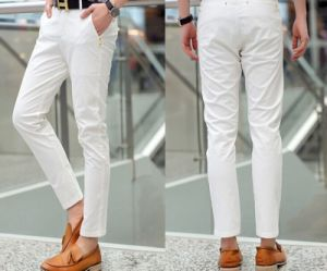 Hot Sale British Style Casual Capri Pants for Men pictures & photos