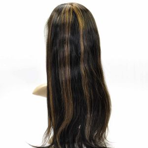 Malaysina Human Hair Full Lace Wig Mix Color Straight Hair pictures & photos