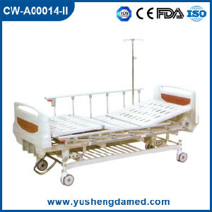Movable Manual Steel Folding 3 Cranks Hospital Patient Bed Cw-A00014-II pictures & photos