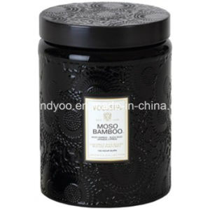 Black Jar Luxury Aroma Smokeless Candle with Lid pictures & photos